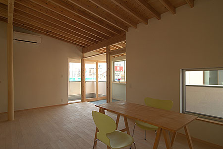 越谷の家(2階居間)