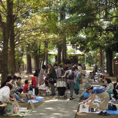 川口一箱古本市の風景2