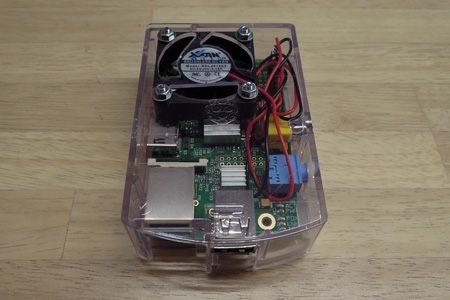 Raspberry Pi にケースファンを組み込む