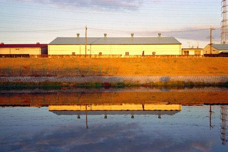 芝川放水路の倉庫